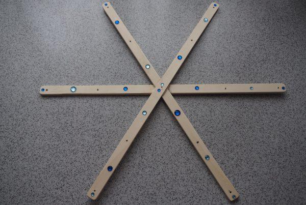 Holzrahmen für das Eismobile