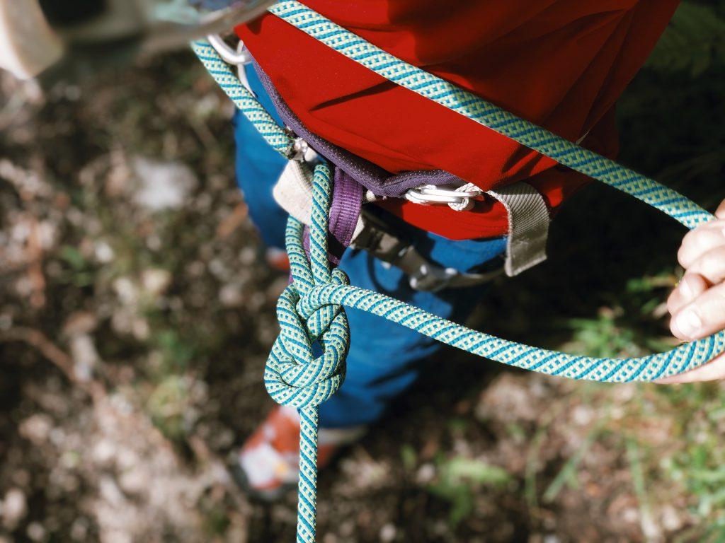 Achterknoten Klettern